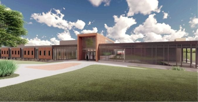 Sill Hall architectural rendering.