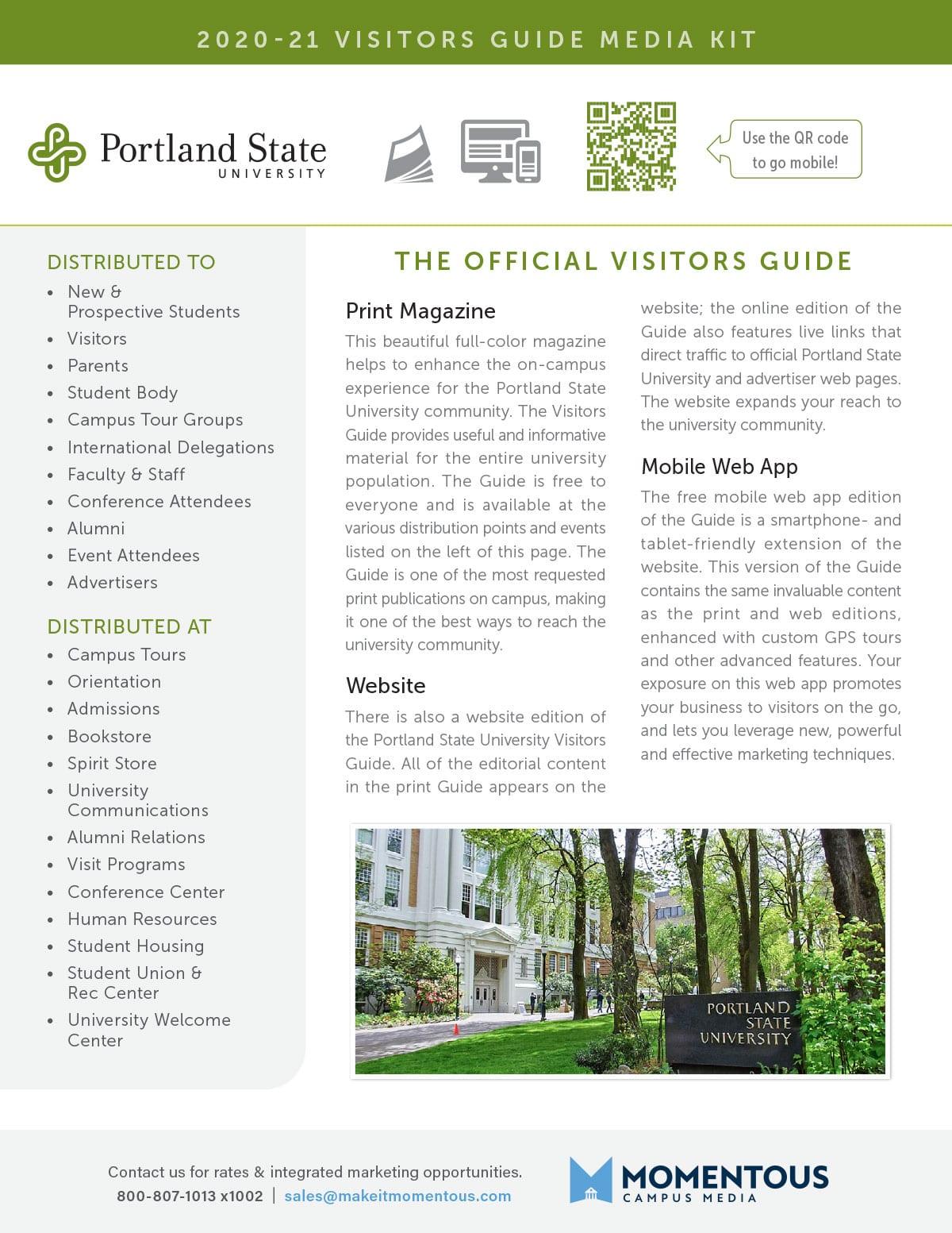 Media Kit Portland State University Visitor Guide