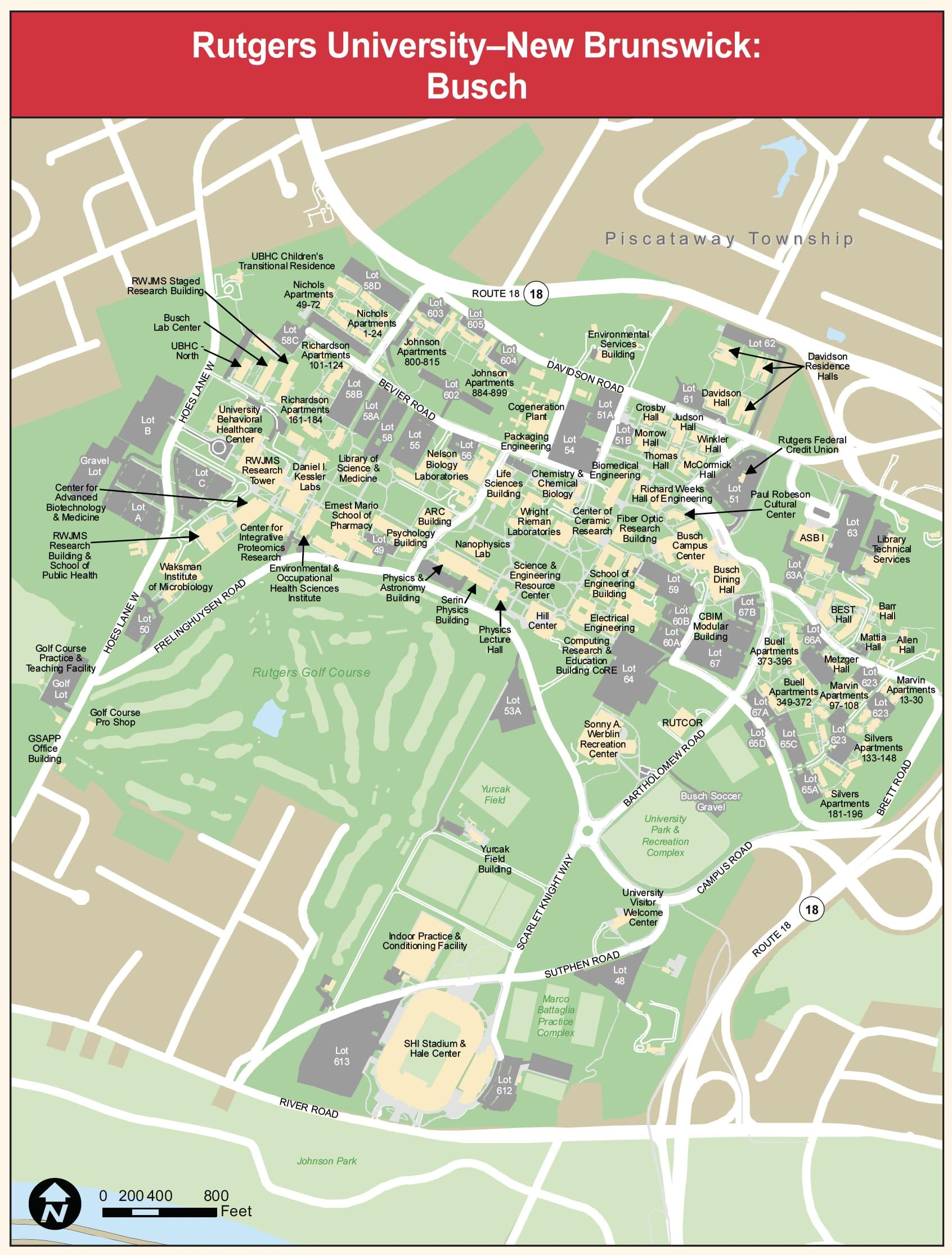 Busch Campus Map