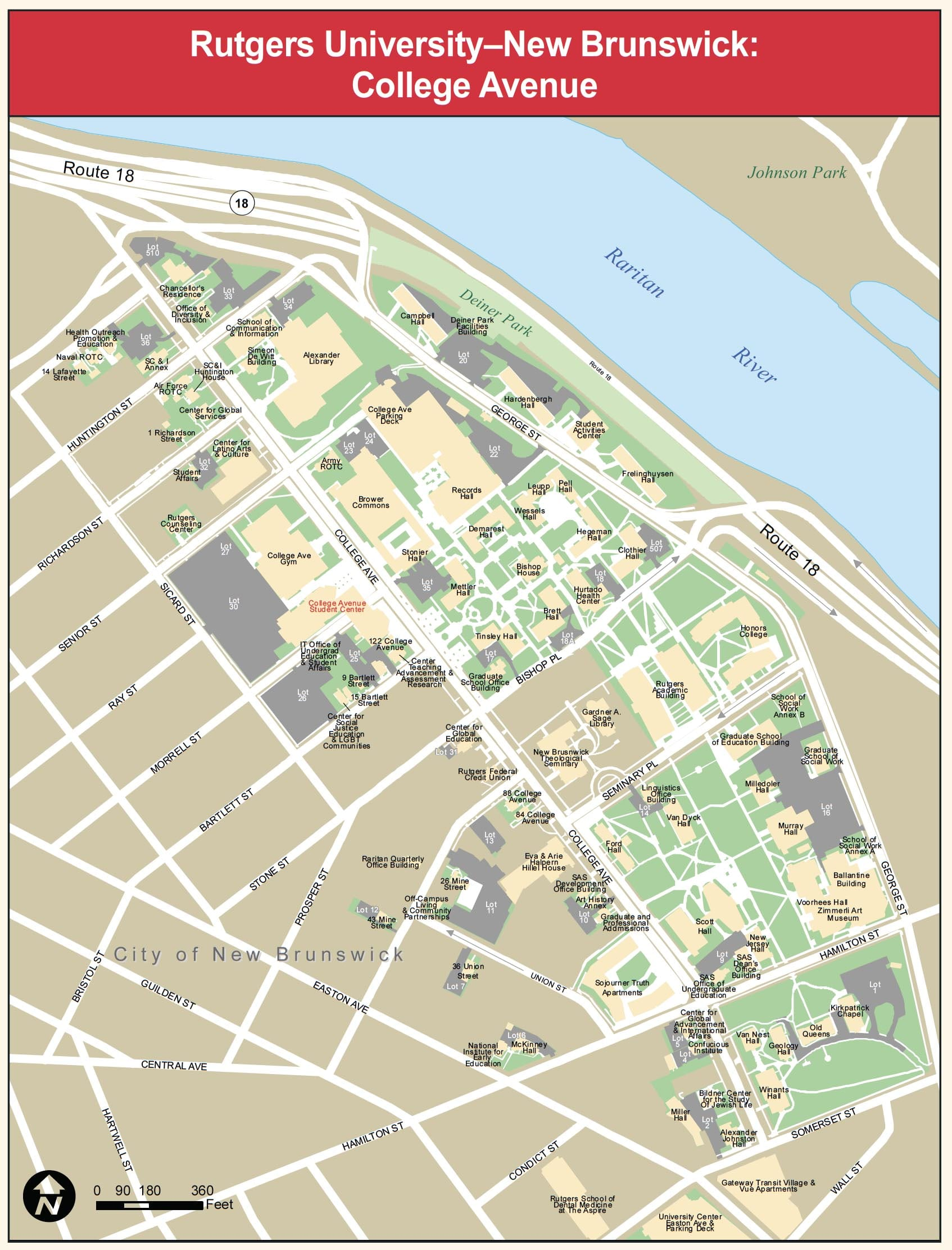 College Ave Campus Map