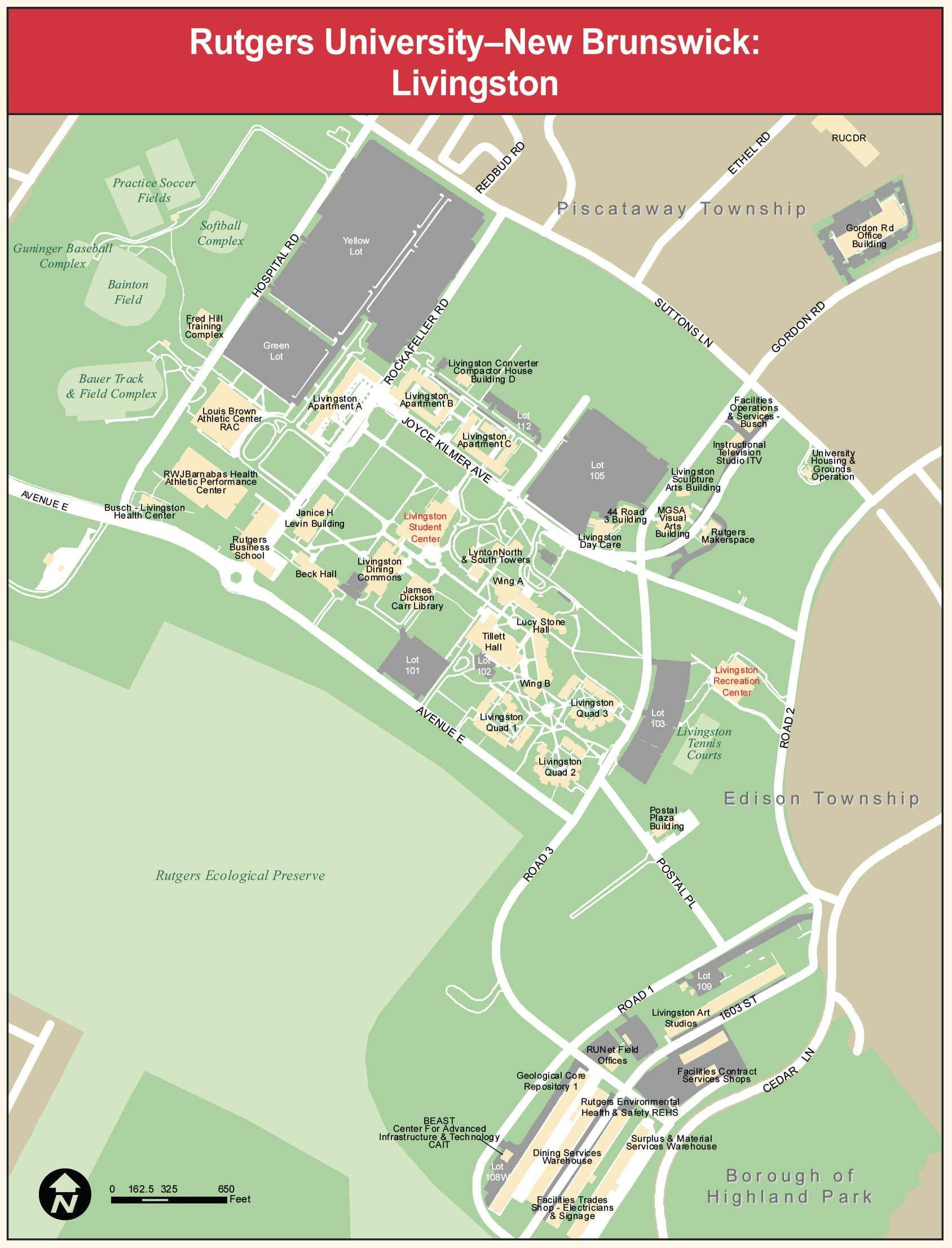 Livingston Campus Map