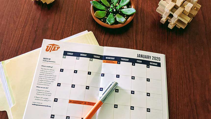 UTEP Calendar